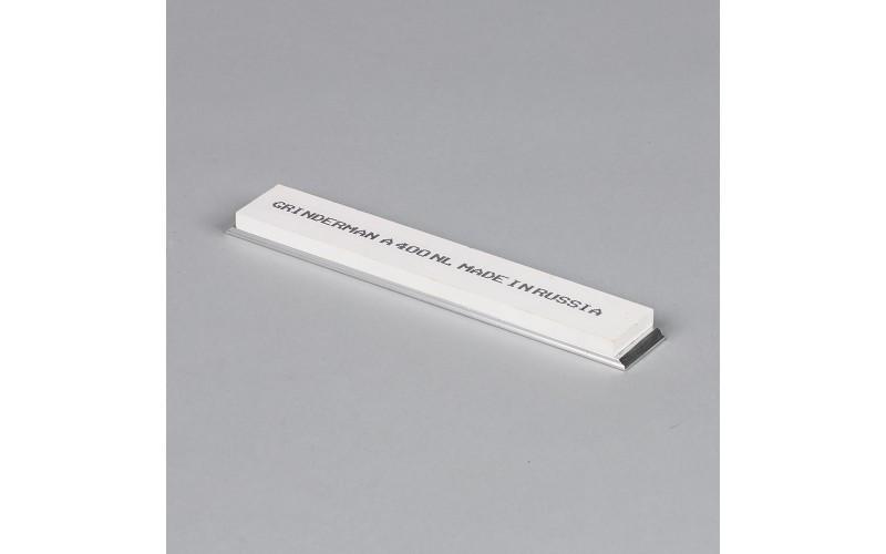 Брусок водный Grinderman из оксида алюминия F400 на бланках 25х6х150