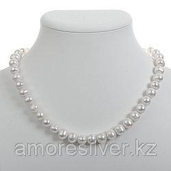 Бусы  серебро без покрытия, жемчуг культ. аа 07T-d11-S-45cm