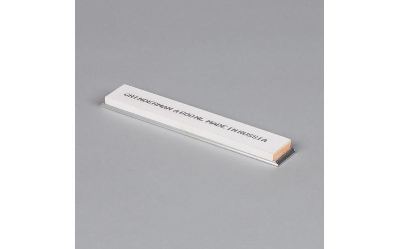 Брусок водный Grinderman из оксида алюминия F600 на бланках 25х6х150