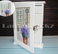 Деревянная настенная ключница Paris Lavender шкатулка для ключей