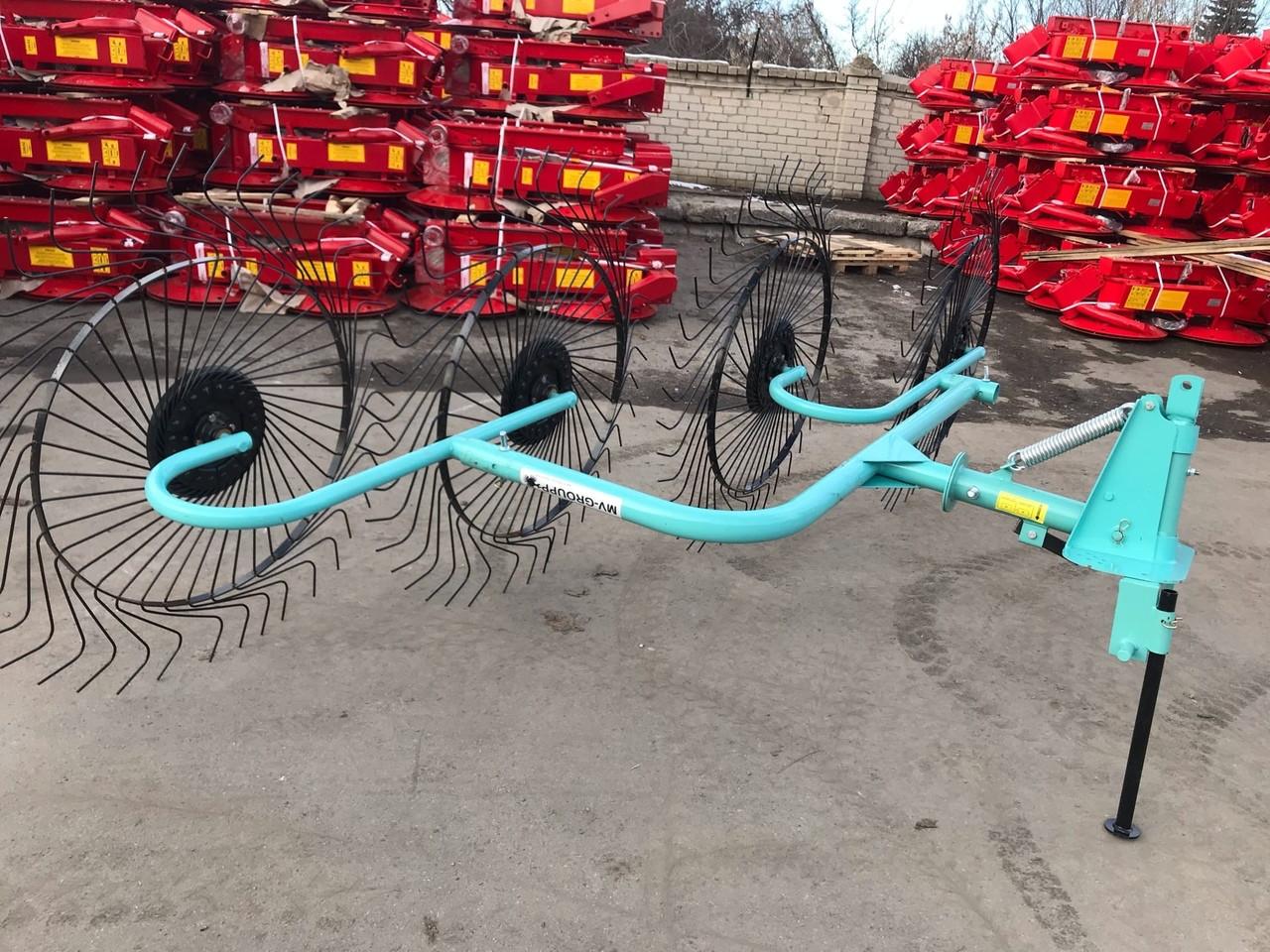 Грабли-ворошилки OGR 4х колесные 2.6м (усиленные)