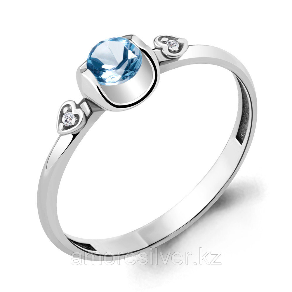 Кольцо из серебра с топазом свисс  Aquamarine 6912605А