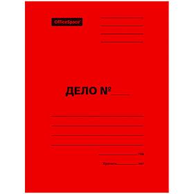 Папка-скоросшиватель картонная , А4 формат, 300 гр, красный