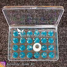 Набор кондитерских насадок, в пластиковом кейсе. Материал: Силикон. Цвет: Синий. Набор: 24шт.