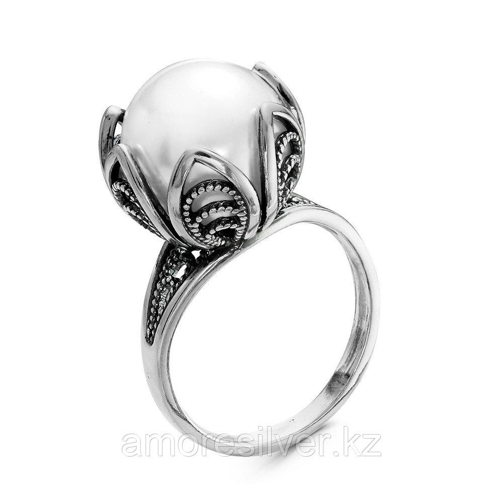 Кольцо из серебра с жемчугом имитированным  Красная Пресня 23610760