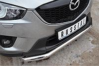Mazda CX-5 2011-2016 Защита переднего бампера d63 (секции) d42 (дуга)
