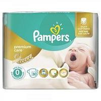 Pampers Подгузники Pampers, Premium Care 0, NB, 30 шт/упак.