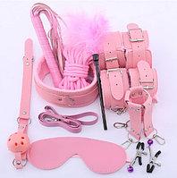 БДСМ набор 10 предметов, розовый