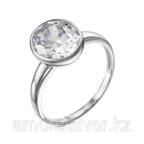Кольцо Красная Пресня серебро с родием, фианит 23811114Д