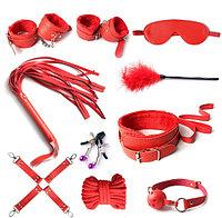 БДСМ набор 10 предметов, красный