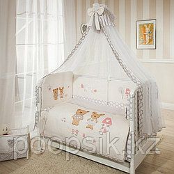 Комплект в кроватку Perina Венеция Лапушки 7 предметов бежевый