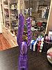 Гелевая анально-вагинальная насадка на секс - машину, фиолетовая, фото 3