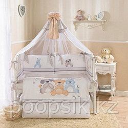 Комплект в кроватку Perina Венеция Три друга 7 предметов