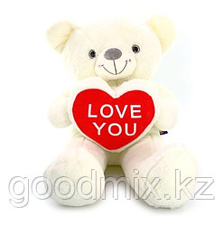 Мишка с сердцем LOVE YOU (100 см)