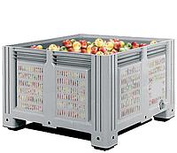Пластиковый контейнер iBox 1130*1130*760 сплошной, на ножках