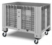 Пластиковый контейнер iBox 1200х800 перфорированный, на колесах