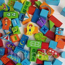 Деревянный конструктор - 100 деталей, Urban Traffic Blocks, фото 3
