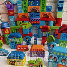 Деревянный конструктор - 100 деталей, Urban Traffic Blocks, фото 2