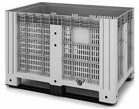 Пластиковый контейнер iBox 1200х800 перфорированный, на полозьях