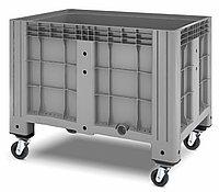 Пластиковый контейнер iBox 1200х800 сплошной, на колесах, фото 1