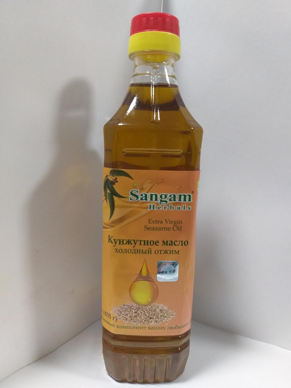 Кунжутное масло, 500 мл, Сангам, Extra Virgin Seasame Oil