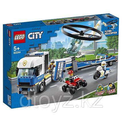 Lego City 60244 Полицейский вертолетный транспорт