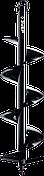 Шнек для мотобуров, грунт, d=60 мм, однозаходный, ЗУБР