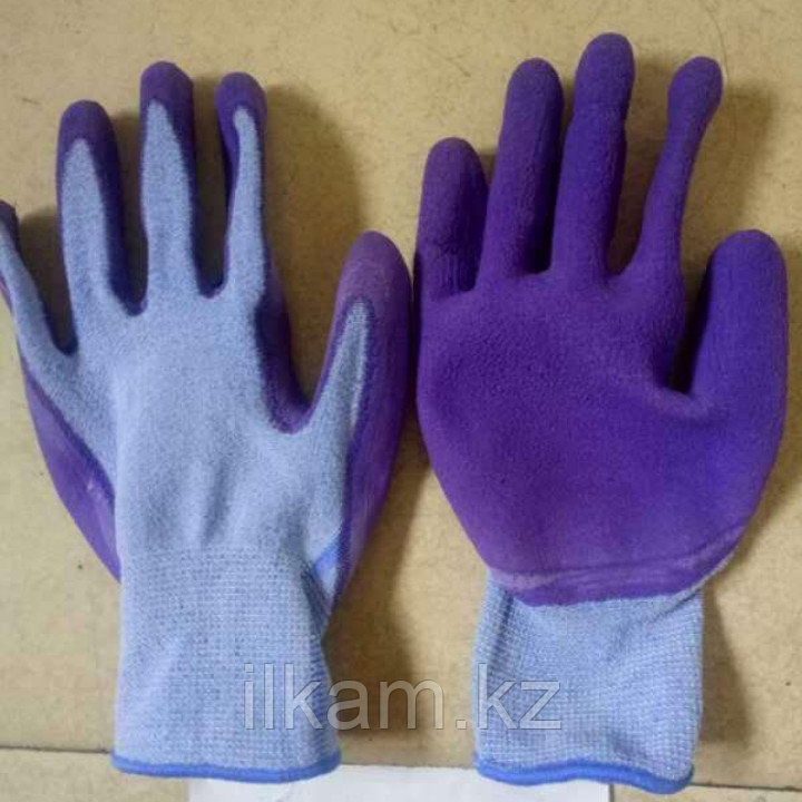 Перчатки виниловые с нитриловым покрытием