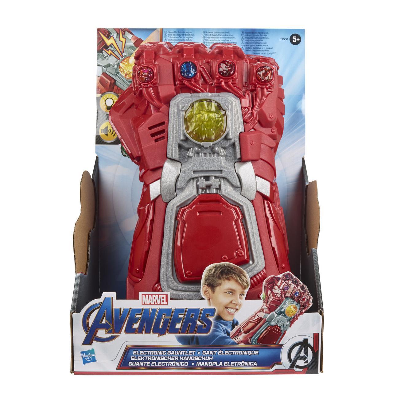 """Hasbro """"Мстители: Финал"""" Красная Перчатка Бесконечности Железного человека (свет, звук)"""