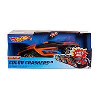 Машинка Хот Вилс меняющая цвет Hot Wheels Race N Crash 20 см красно-оранжевая, фото 1