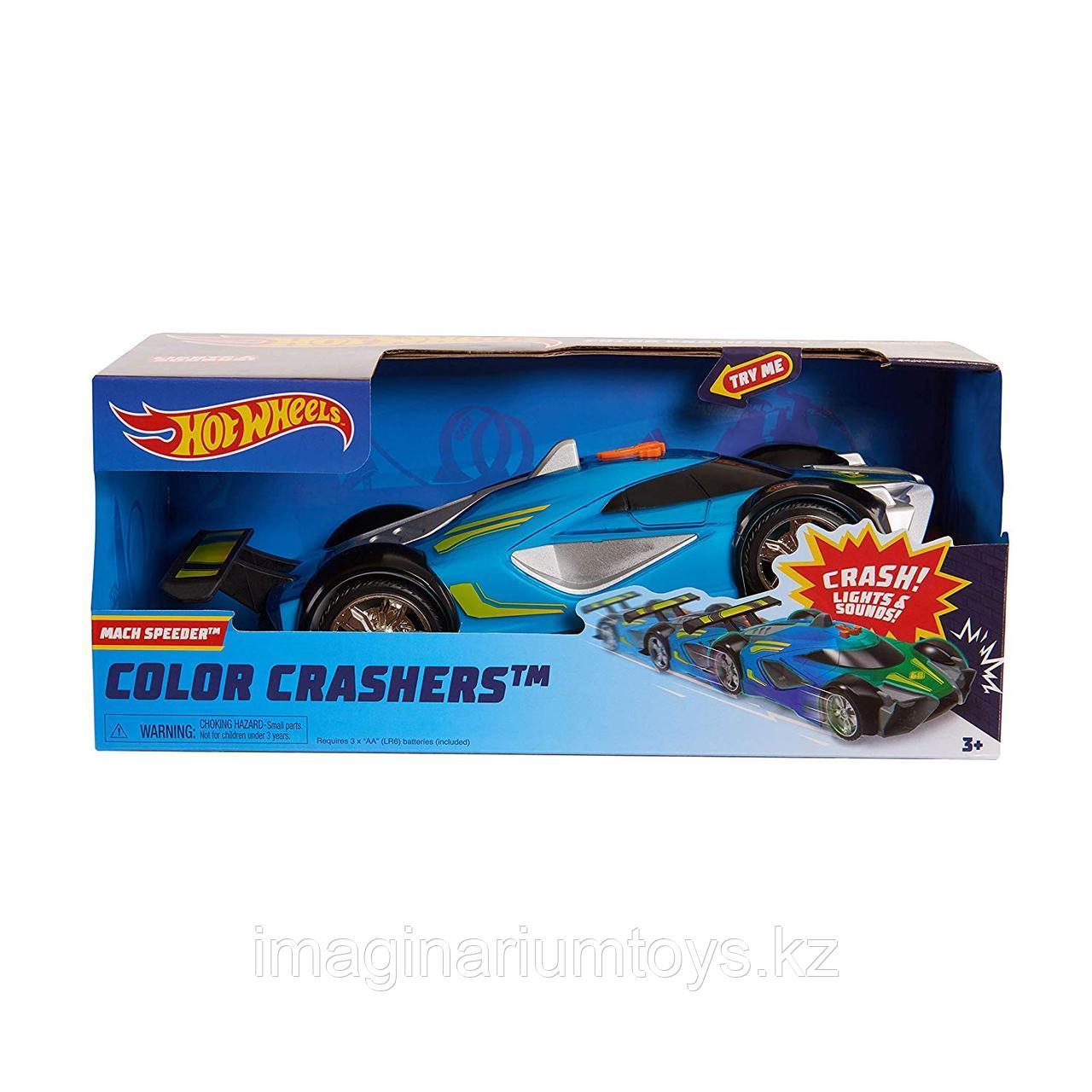 Машинка Hot Wheels Race N Crash 20 см со звуковыми и световыми эффектами