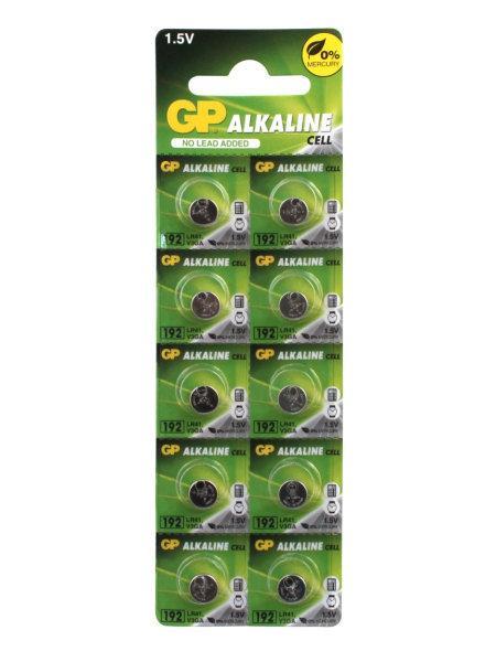 Батарейка GP  LR41 (AG3, 384, 192), 1.5v