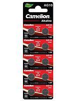 Camelion / Батарейки дисковые AG10, LR54, LR1130, A189