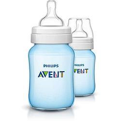 Бутылочка Avent Classic+ 260мл 2шт голубая