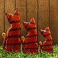 """Набор сувенирный """"Рыжие кошечки""""(15,20,25) 17х5х25 см, фото 4"""