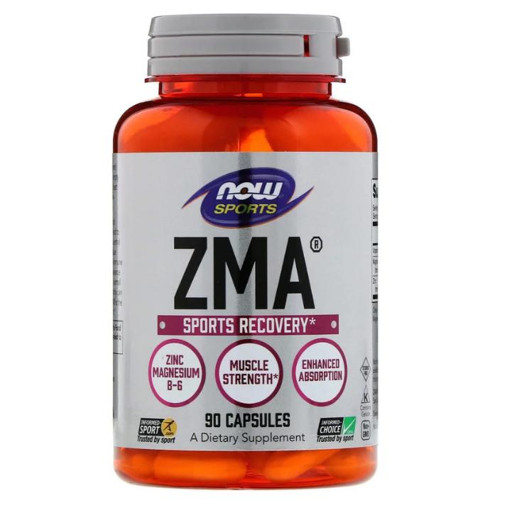Now Foods, Спортивная серия, ZMA, восстановление после занятий спортом, 90 капсул