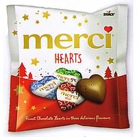 Merci Hearts Молочный шоколад 100гр