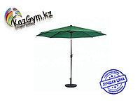 Зонт летний ART.Home с подставкой (d=2.7м), зеленый/бронза/бежевый, фото 1