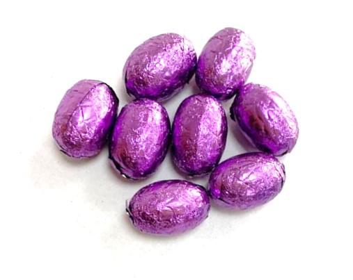 Шоколадные яйца (Фиолетовые) (темный шоколад)  1кг