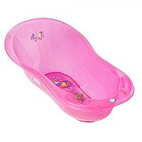 Детская ванна овальная Tega Baby Aqua 102 см с градусником розовый, фото 1
