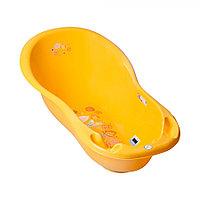 Детская ванна овальная Tega Baby Folk 102 см с градусником желтый, фото 1