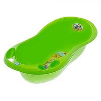 Детская ванна овальная Tega Baby Safari 102 см с градусником зеленая, фото 1