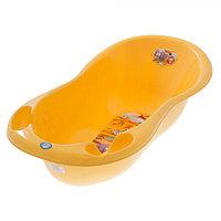 Детская ванна овальная Tega Baby Safari 102 см с градусником желтый, фото 1