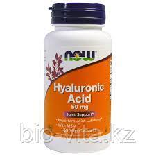 Гиалуроновая кислота, двойная сила, 100 мг, 60 капсул на растительной основе   Now Foods