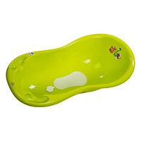 Детская ванночка Maltex Дино 100 см с пробкой и не скользящим ковриком зеленый, фото 1