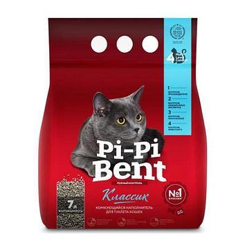 Pi-Pi-Bent Наполнитель комкующийся для туалета кошек 7л