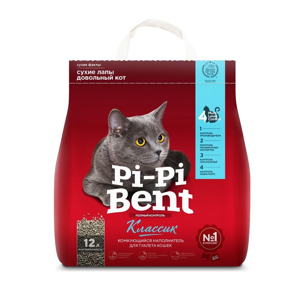Pi-Pi-Bent Наполнитель комкующийся для туалета кошек 12л
