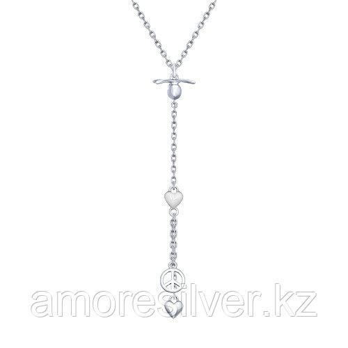 Колье SOKOLOV серебро с родием, эмаль 94070141