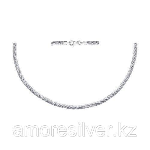 Колье SOKOLOV серебро с родием, без вставок 94074457