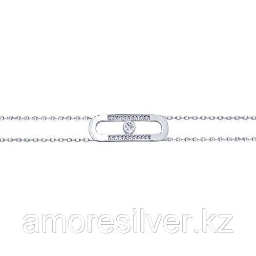 Браслет SOKOLOV серебро с родием, фианит 94050438